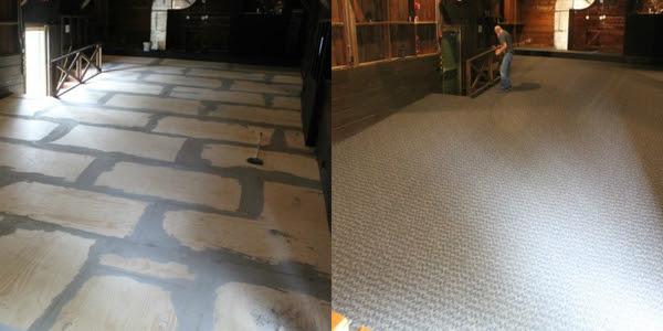 New subfloor and carpet
